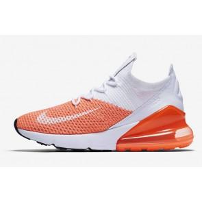 Boutique Nike Air Max 270 Flyknit Grise Orange Pas Cher