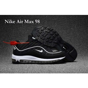Supreme x Nike Air Max 98 KPU TPU Noir Blanche Meilleur Prix