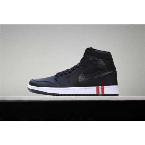 """Boutique Homme Air Jordan 1 """"PSG"""" Core Noir Rouge Blanche"""