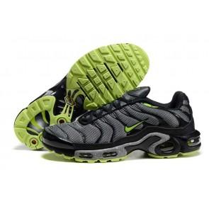 Chaussures Nike Air Max TN Plus Homme Noir Verte Soldes