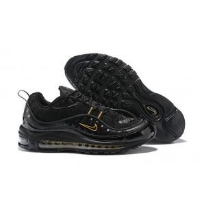 Superme x Nike Air Max 98 Noir Or Meilleur Prix