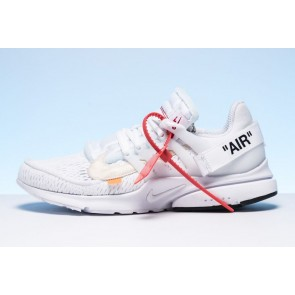 Homme Off-White x Nike Presto Blanche Noir Pas Cher