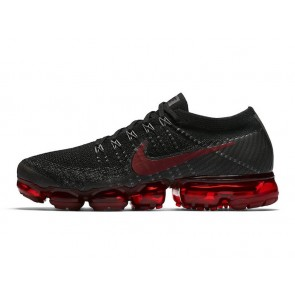 Nike Air VaporMax Flyknit Bred Noir Rouge Soldes