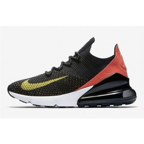 Homme Nike Air Max 270 Flyknit Noir Rouge Pas Cher