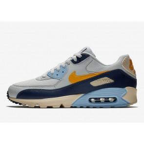 """Homme Nike Air Max 90 """"Bleu Void"""" Pure Platinum Bleu Jaune Rabais"""