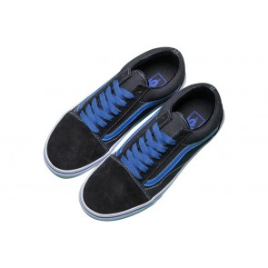 Vans Old Skool Noir Bleu Pas Cher - Chaussures Vans
