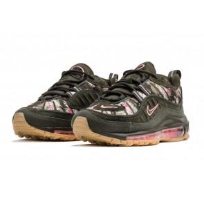 """Femme Nike Air Max 98 """"Sequoia"""" Sequoia Rose Rose Soldes"""