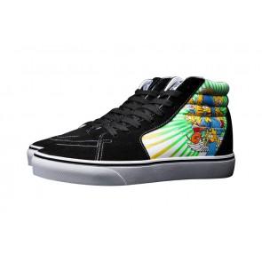 Chaussures Vans Sk8 Hi Simpsons Noir Print Soldes