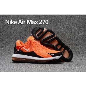Homme Nike Air Max 270 Trainers KPU TPU Orange Noir Rabais