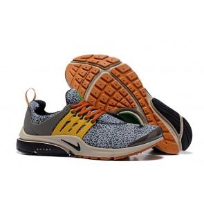 "Chaussures Homme Nike Air Presto ""Safari"" Noir Jaune Pas Cher"