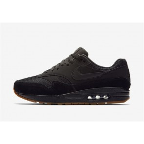 Homme Nike Air Max 1 Noir Gum Rabais